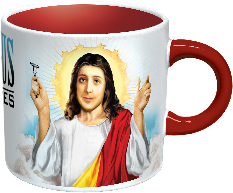 amazon com jesus shaves disappearing coffee mug add water
