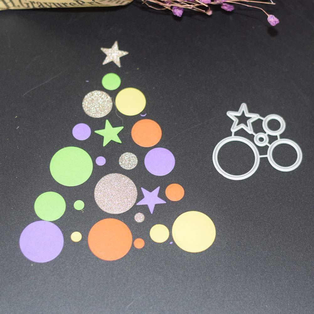 tarjetas Troqueles de corte Muzhili3 plantilla de estarcido /álbum de recortes troqueles anillo de estrellas