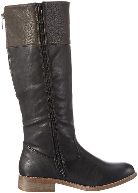 95650 color para schwarzbasalt negro Botas Rieker altas mujer dXSgXwq