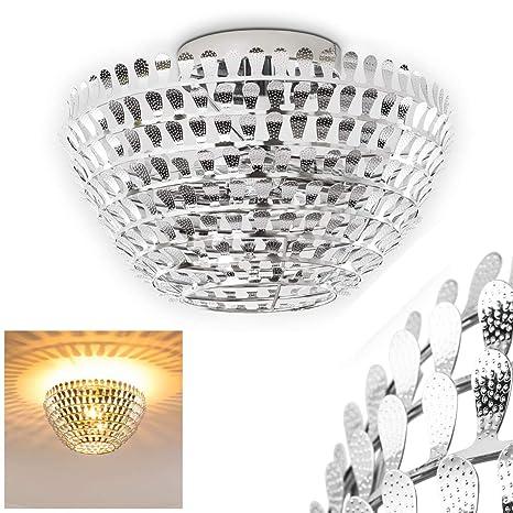 Lámpara de techo metálica Hoting - lámpara de araña con ...