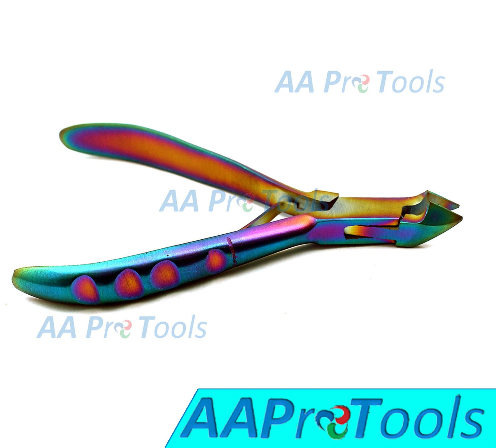 AAPROTOOLS TITANIUM COADED CUTICLE NIPPERS RAINBOW COLOR A+ QUALITY