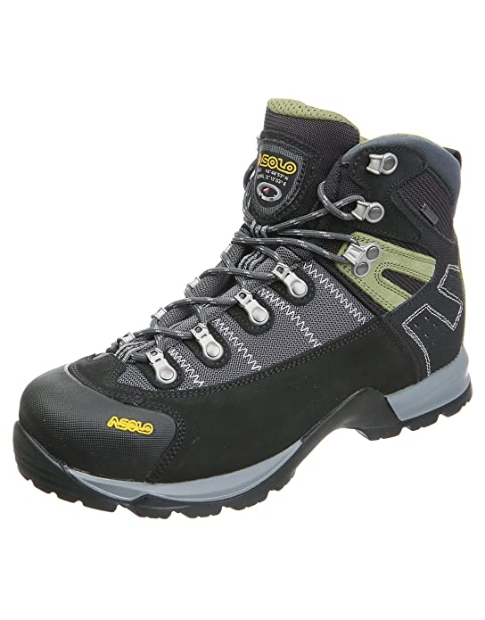 Asolo Men's Fugitive GTX Hiking Boots, Black / Gun Metal, 11.5 D(M) US