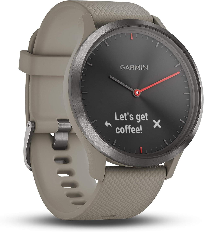 Garmin Vívomove HR Reloj Inteligente con GPS y Pulso en la Muñeca, Adultos Unisex, Oro Rosa/Negro, Talla Única