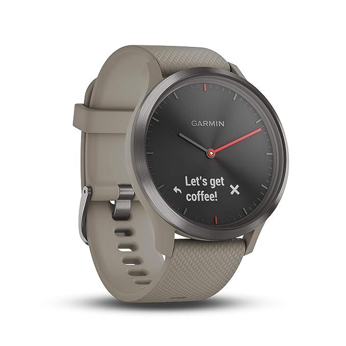 Garmin Vívomove HR-Smartwatch, Color Oro Rosa y Negro, Adultos Unisex, Talla Única