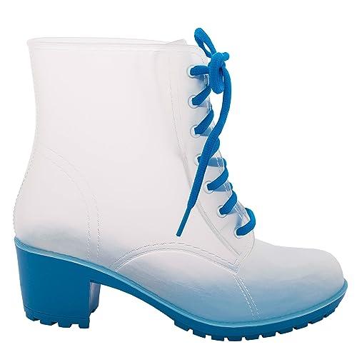 JellyJolly Botas de lluvia para mujer y 3 pares de calcetines, Black Lace 39 EU DD23-30-S-39