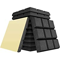 Baalaa 12Pack Acoustic Foam Adhesive Panels 2X12X12Inch Sound Proof Foam Panels for Sound Insulation Absorbing,9 Block…