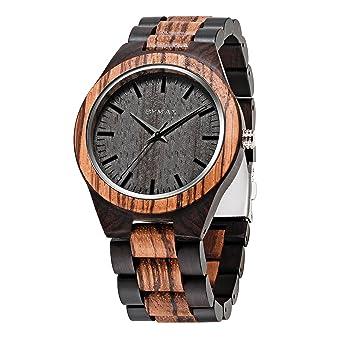 34b46b9564d Amazon.com  Men Wood Watch Quartz
