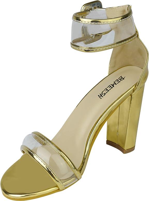 9924b2e683c4b2 Femmes Fille Chaussures Talon Hauts Bout Ouvert Sandale Escarpins. BeMeesh  Femmes Fille Chaussures Talon Hauts Bout Ouvert Sandale Escarpins