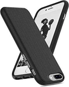 ORIbox iPhone 8 Plus Case & iPhone 7 Plus Case, Basketball Stripe, Shock Protection, Enhanced Grip, Carbon Fiber Case for iPhone 8 Plus & iPhone 7 Plus for Women & Men, Black