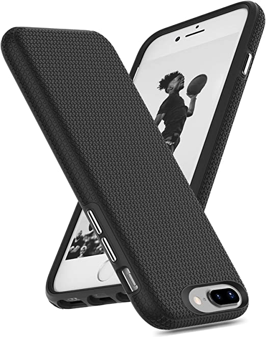 ORIbox Case Compatible with iPhone 7 Plus Case, Compatible with iPhone 8 Plus Case, Basketball Stripe, Shock Protection, Enhanced Grip