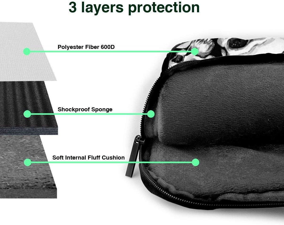 Sugar Skull Halloween Printed Laptop Shoulder Bag,Laptop case Handbag Business Messenger Bag Briefcase