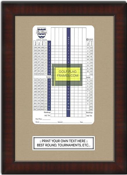 Amazon.com - Custom Size Golf Scorecard Frame; Mahogany Color Frame ...