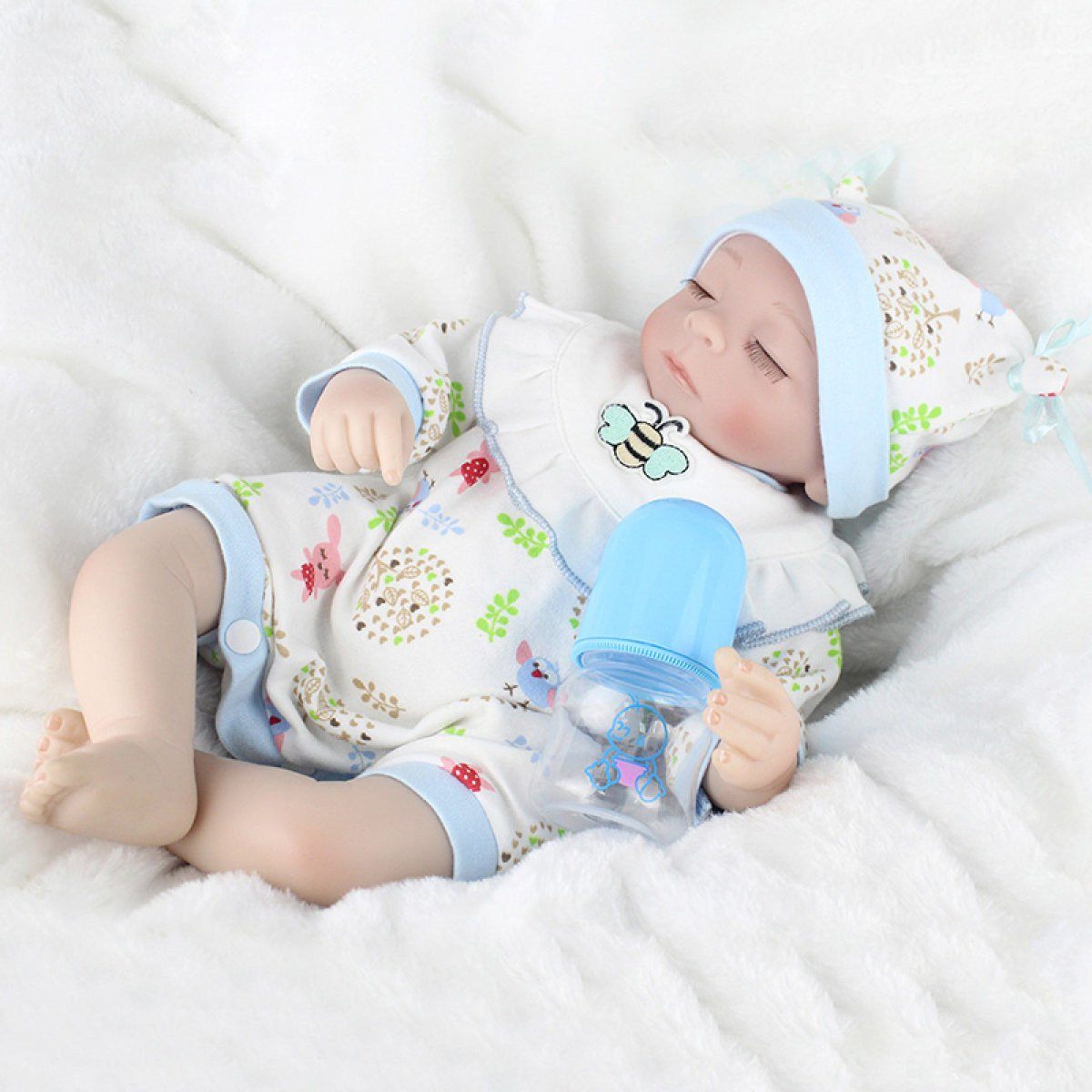 Yihang Rebornボディシリコンビニール人形Sleeping Boy Babies 18インチ45 cm磁気口フルAlive Baby Realビニールベリーキッズおもちゃ子供誕生日   B07BTY87QX