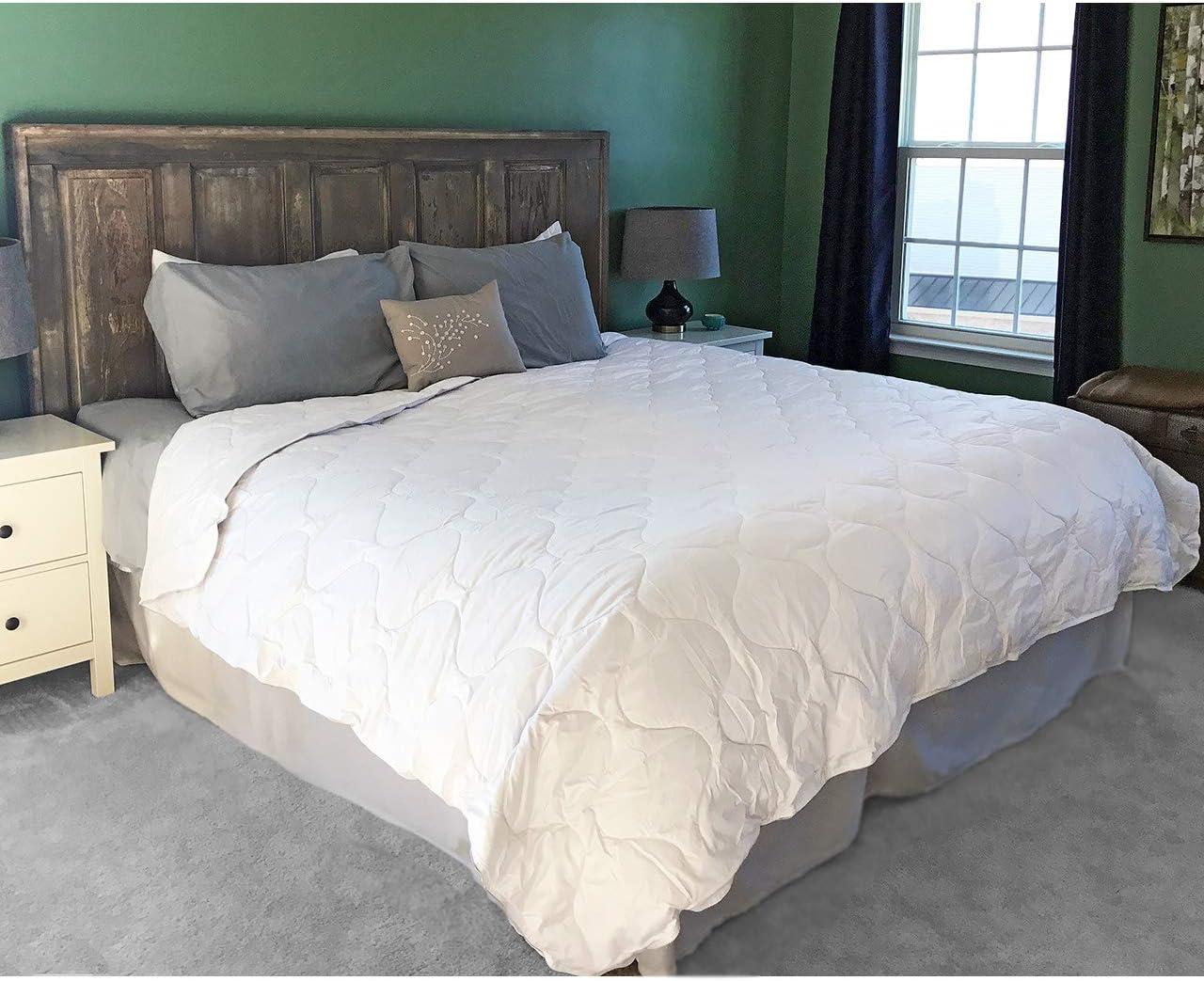 Alpaca Duvet - Hypoallergenic Comforter / Down Alternative - 100% Alpaca Wool Filling with 100% Pima Cotton Casing   Regular Weight ~ New (King/Cal King)