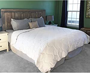 Alpaca Duvet - Hypoallergenic Comforter / Down Alternative - 100% Alpaca Wool Filling with 100% Pima Cotton Casing | Regular Weight ~ New (King/Cal King)