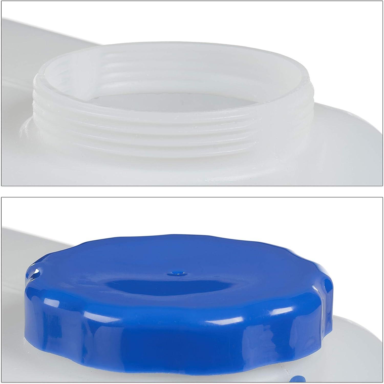 sans BPA Blanc bidon /à Eau de Camping 18 Liter Relaxdays Jerricane Robinet 18 L Couvercle /à Visser