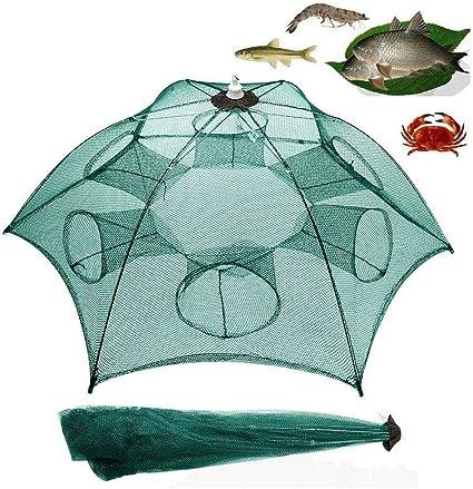 Foldable Crayfish Fishing Bait Shrimp Crab Net Live Trap Cast Dip Cage  Crawdad