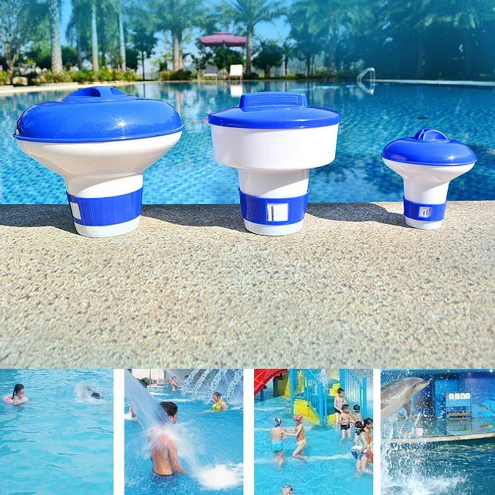 symboat le Pillole galleggianti di piscina di dimensioni mini Disinfettante La scatola di medicina galleggiante di distributore automatico