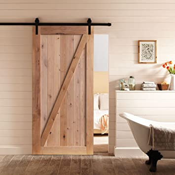 Puerta de madera rústica para puerta interior de cocina, 36/42 pulgadas x 84 pulgadas, para puerta de barn: Amazon.es: Bricolaje y herramientas