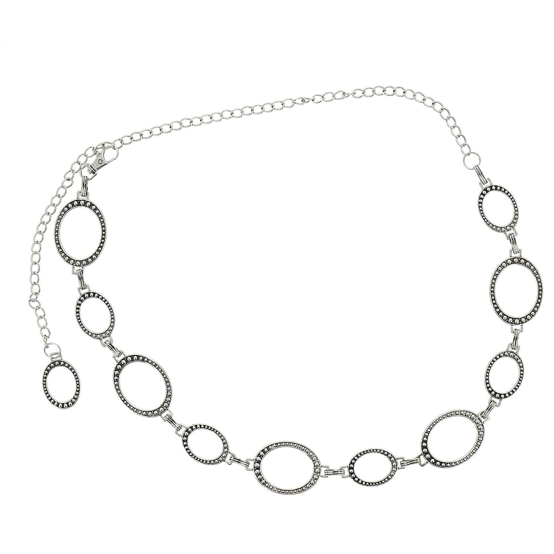 Fashiongen Cintura Metallico Catena da Donna JAQUELINE
