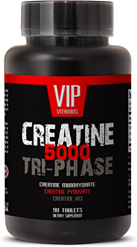 Premuim Blend of Creatines – Creatine Tri-Phase 5000mg, Creatine Monohydrate, Creatine HCL and Creatine Pyruvate 1 Bottle 90 Tablets