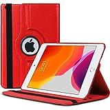 Microsonic Apple iPad 10.2'' 7. Nesil (A2197-A2200-A2198) Kılıf 360 Rotating Stand Deri Kırmızı