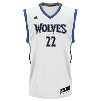adidas NBA Minnesota Timberwolves Andrew Wiggins #22 Men's Replica Jersey,  Large, White