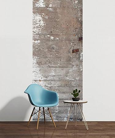 Awallo Dekopanel Motiv Betonfassade In Den Farben Grau Weiß Fototapete In  100x250cm Auf Vliestapete Made In