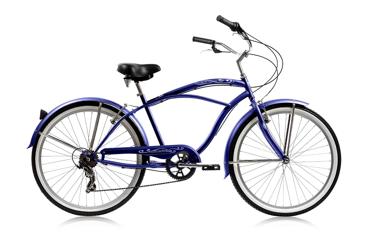 Micargi Pantera 7-speed 26 for men Blue , Beach Cruiser Bike Schwinn Nirve Firmstrong Style