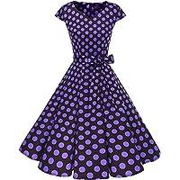 DRESSTELLS Mujer Vestido Corto Mujer Retro Años 50 Vintage Vestido de Cóctel