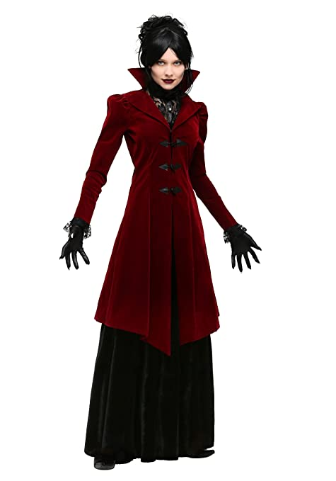 Make an Easy Victorian Costume Dress with a Skirt and Blouse Womens Delightfully Dreadful Vampiress Costume Vampire Costume for Women $54.99 AT vintagedancer.com