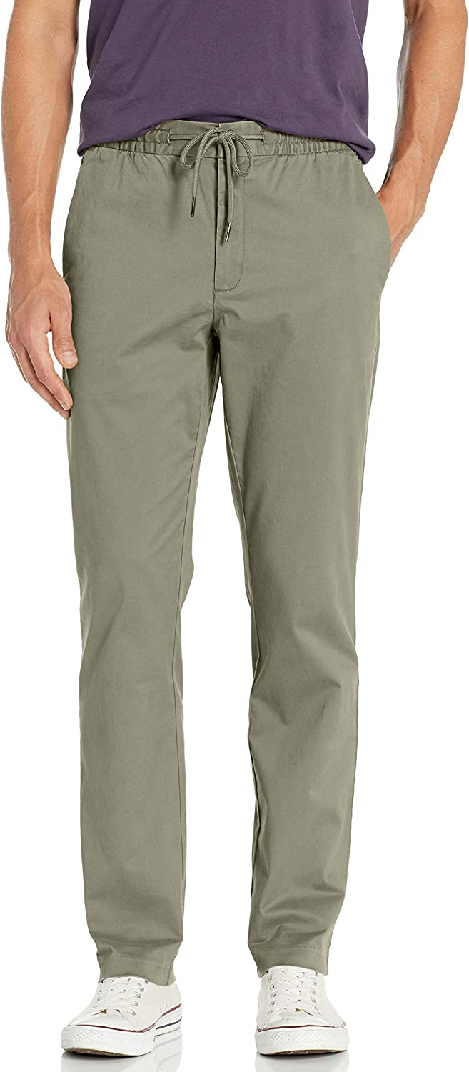 Goodthreads Straight-Fit Washed Chino Drawstring Pant Uomo