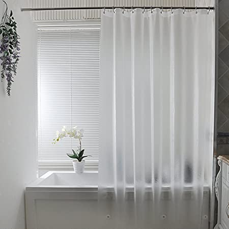 Frosted Shower Curtain Liner 200cm, 100% Waterproof Anti Mildew ...
