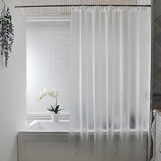 Shower Curtains Mould Proof Resistant By Eurcross,Eco Friendly Frosted EVA  With 15 Gauge
