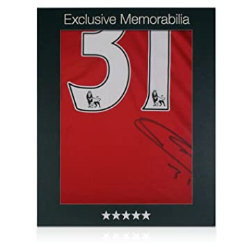 Marouane Fellaini Firmado camiseta de fútbol Manchester United en caja de regalo