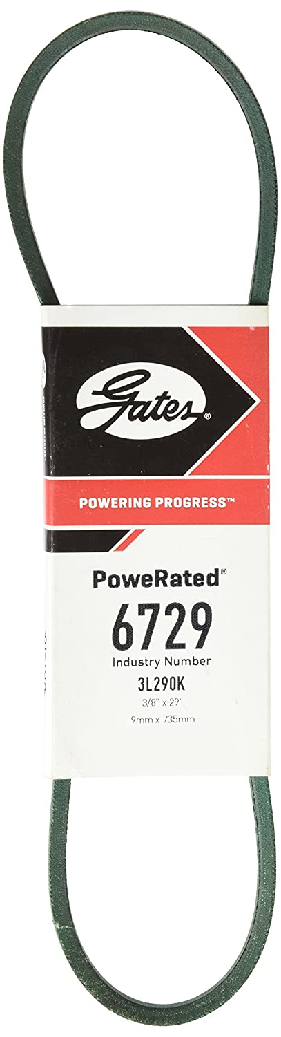 Gates 6729 PoweRated V-Belt 3//8 Width 7//32 Height 29.0 Belt Outside Circumference 3L Section