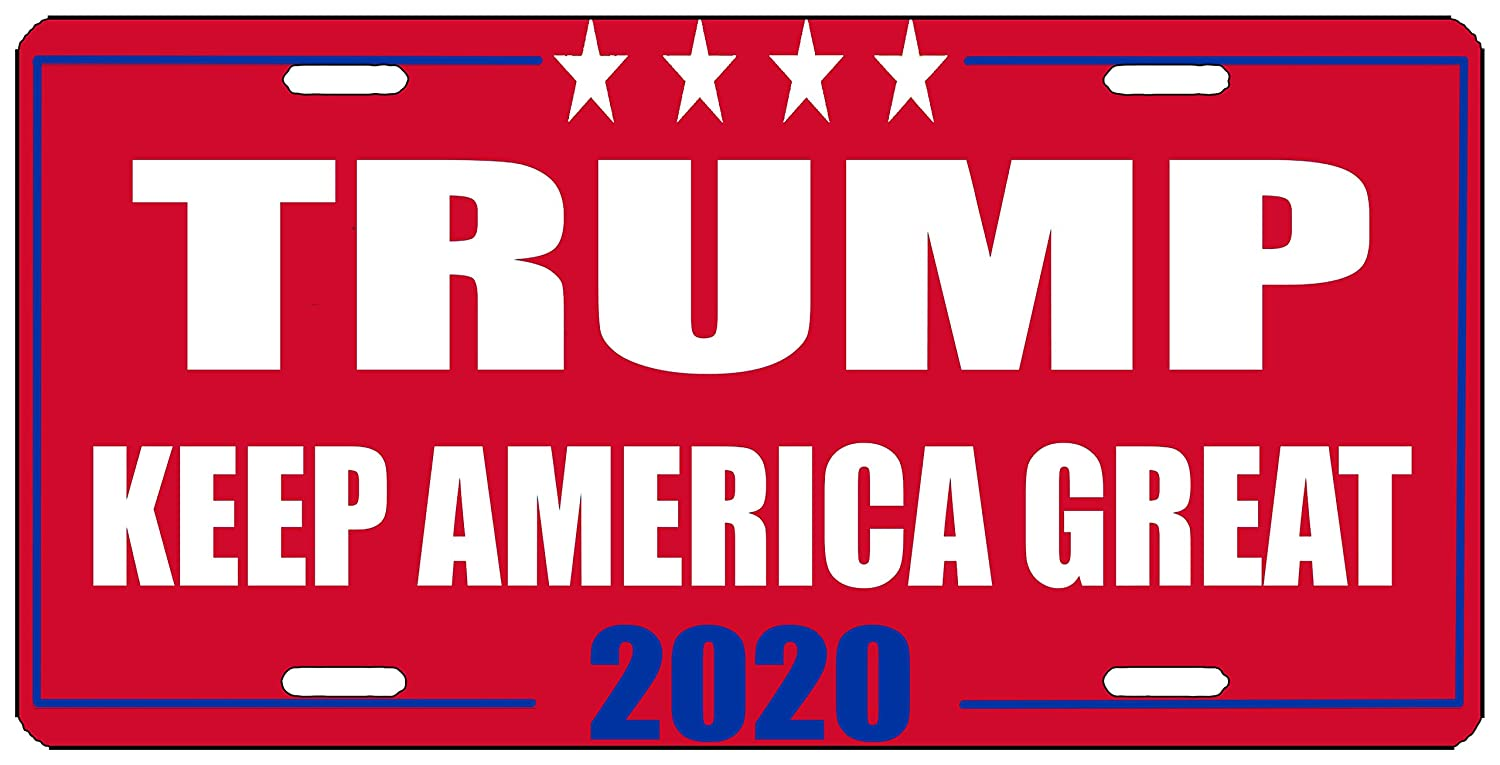 Trump Keep America Great Red License Plate Novelty Auto Car Tag Vanity Gift MAGA Conservative Republican Rogue River Tactical KDWVMA1866