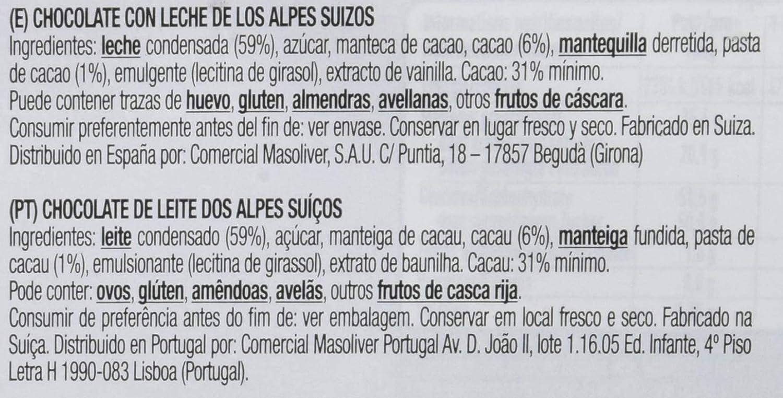 Cailler, Galleta fresca de oblea (leche de los Alpes Suizos) - 400 gr.: Amazon.es: Alimentación y bebidas