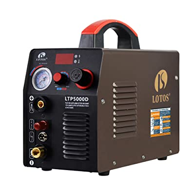 Lotos LTP5000D 50Amp Non-Touch Pilot Arc Plasma Cutter, Dual Voltage 110V/220V, 1/2 Inch Clean Cut, Brown: Power Plasma Cutters: Industrial & Scientific