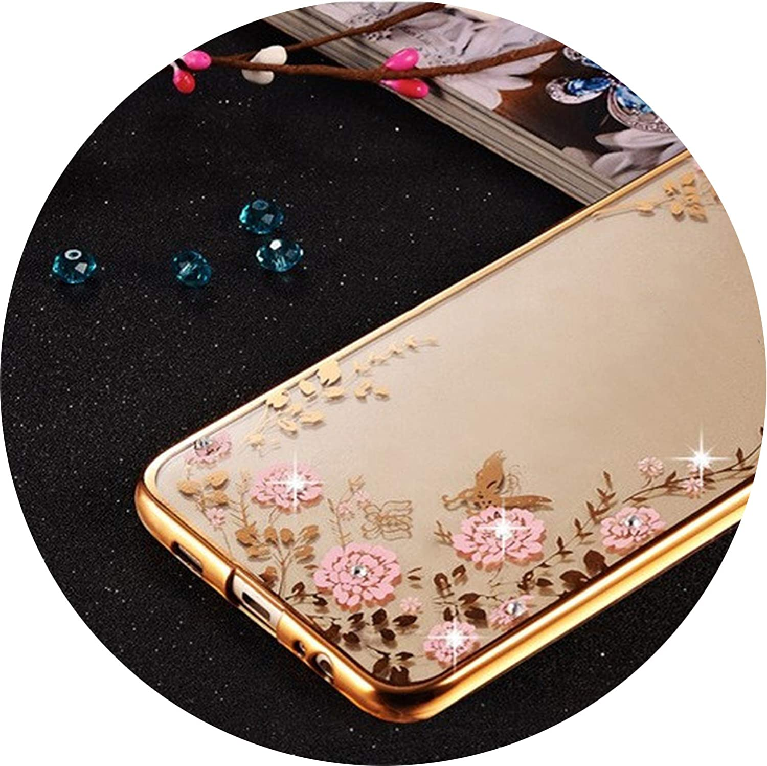 Amazon.com: Bling Diamond Clear Case for Samsung Galaxy J3 ...