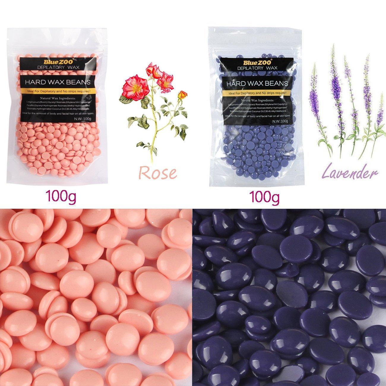 Calentador de cera depilatoria + 10 espátulas de madera + 2 bolsas de perlas de cera: Amazon.es: Belleza