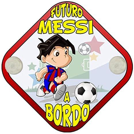 Placa bebé a bordo futuro Messi a bordo Barcelona fútbol ...
