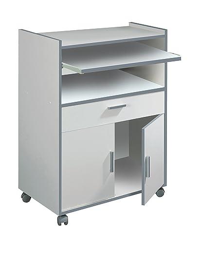 Habitdesign 009910O - Mueble auxiliar mesa cocina con un cajón y dos ...