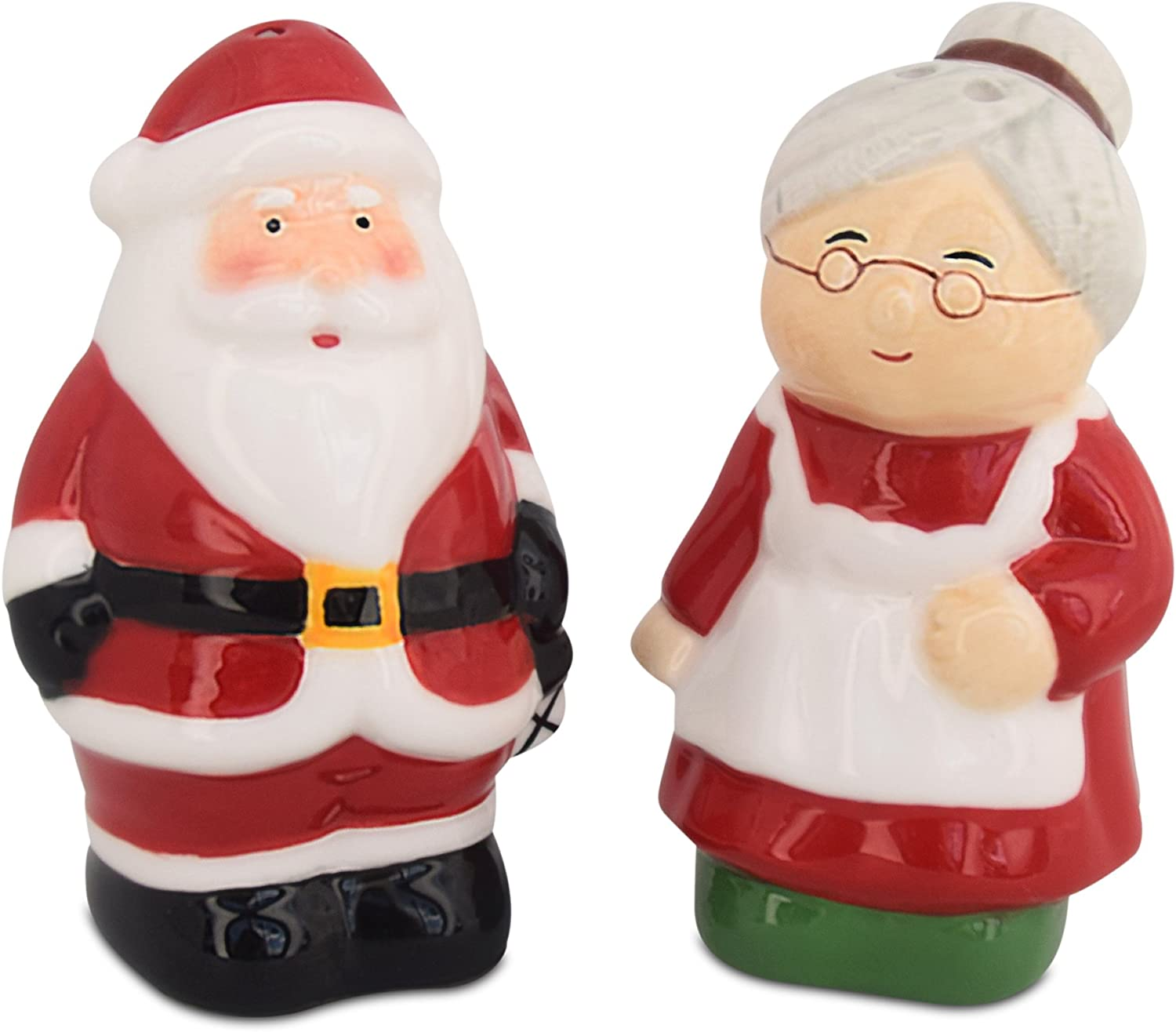 Christmas Salt and Pepper Shakers Santa /& Mrs Claus Holiday Ceramic Set Holiday Decor Barclay/'s Buys