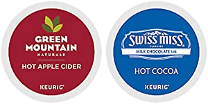 Green Mountain Naturals Hot Apple Cider & Swiss Miss Milk Chocolate Hot Cocoa K-cup Combo Pack for Keurig 2.0 - 48 K-Cups Total (24 of Each)