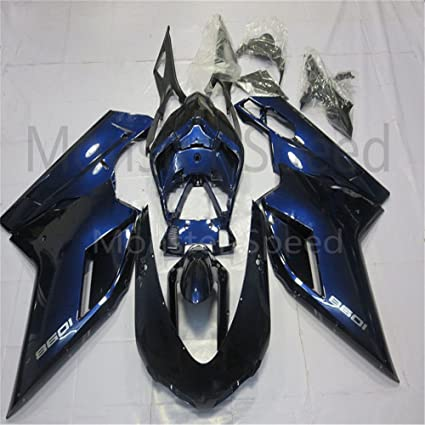 ABS Bodywork Fairing Kit Fit for 2007-2012 Ducati 848 1098 1198 07-12 Injection Mold a#14