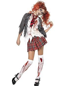 Smiffys - Disfraz de colegiala zombie para mujer: Amazon.es ...