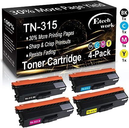 Toner Cartridge TN315 BK C//M//Y For Brother HL-4150cdn 4570cdw MFC-9460cdn