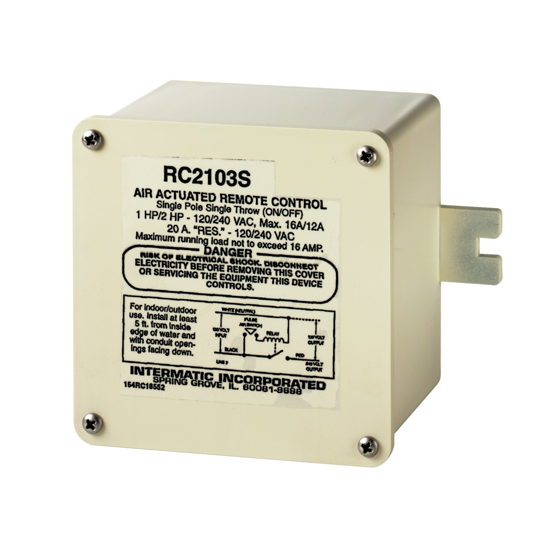Intermatic RC2103S SPST 120/240-Volt Air Switch