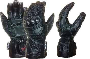 MBSmoto GW Cobra Leder Motorrad Touring Racing lange Schutzhandschuhe schwarz, S